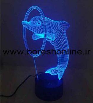 فایل لیزری بالبینگ سه بعدی دلفین و حلقه