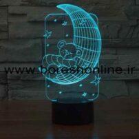 فایل لیزری بالبینگ سه بعدی خرس و ماه