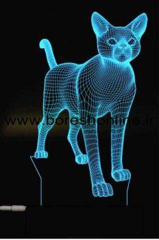 فایل لیزری بالبینگ سه بعدی گربه