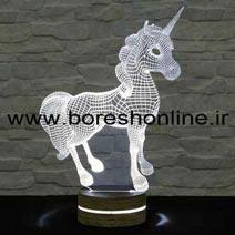 فایل لیزری بالبینگ سه بعدی اسب شاخ دار