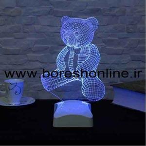 فایل لیزری بالبینگ سه بعدی خرس
