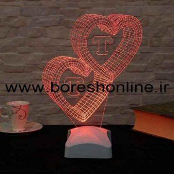 فایل لیزری بالبینگ سه بعدی قلب دوتایی