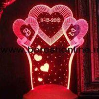 فایل لیزری بالبینگ سه بعدی قلب سه تایی