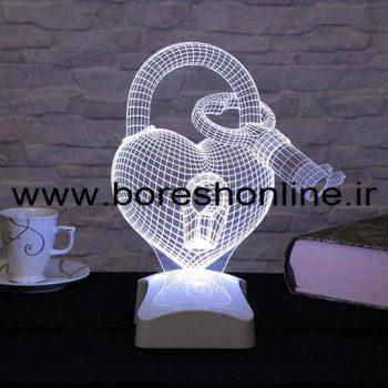 فایل لیزری بالبینگ سه بعدی قلب و کلید