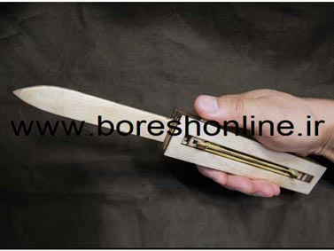 فایل لیزری چاقو ضامن دار چوبی
