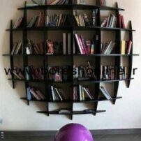 فایل لیزری کتابخانه دیواری دایره ای