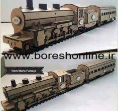 maket ghatar ba reil v vagon v lokomotiv