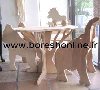 فایل میز و صندلی مهد کودک طرح حیوانات