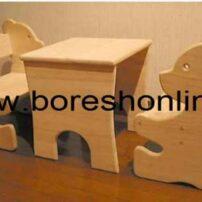 فایل میز و صندلی مهد کودک طرح خرس