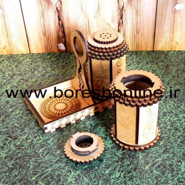 فایل نمکدان چوبی