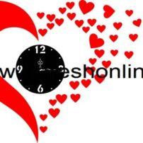 فایل برش لیزری ساعت دیواری قلبی
