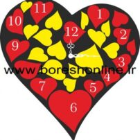 فایل لیزری ساعت دیواری قلبی 3