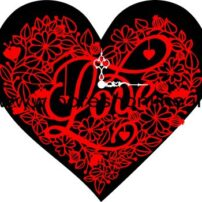 فایل برش لیزری ساعت دیواری قلبی 2