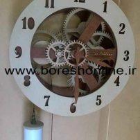 فایل لیزری ساعت دیواری طرح چرخ دنده