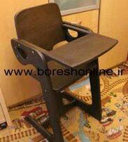 فایل لیزری صندلی چوبی غذای بچه