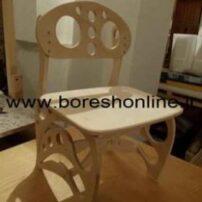فایل لیزری صندلی چوبی محکم