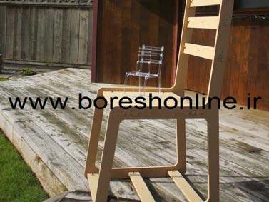فایل لیزری صندلی چوبی