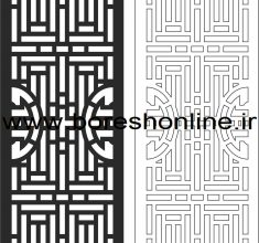 Carved Wood Partition Design vector Free Vector