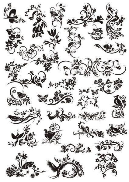 فایل کالکشن گل و پرنده
