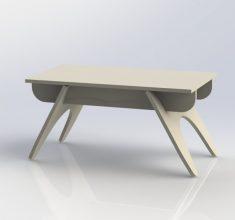 Garden Table Laser Cut Template Free Vector