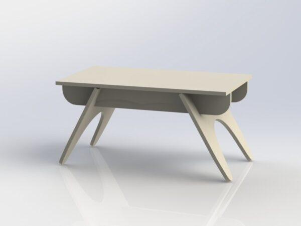 میز چوبی پایه دار