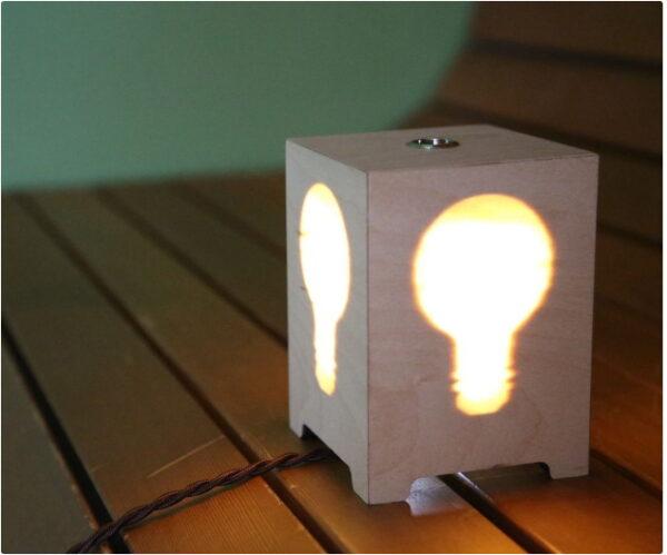 فایل آباژور طرح لامپ