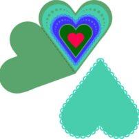 فایل کارت عروسی مقوا طرح درب قلبی 1