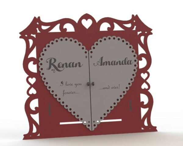 فایل کارت عروسی مقوا طرح درب قلبی