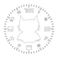 فایل ساعت دیواری طرح گربه