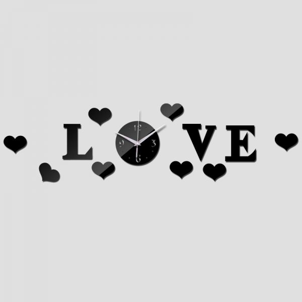 فایل ساعت دیواری طرح قلب