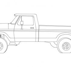 vector mashin Ford Pickup 17 inches