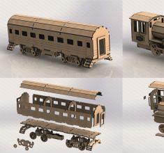 maket tarh lokomotiv v vagon