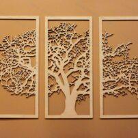 فایل لیزری تابلو دیواری طرح درخت