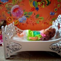 فایل لیزری تخت خواب عروسک
