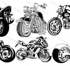 vector motor siklet