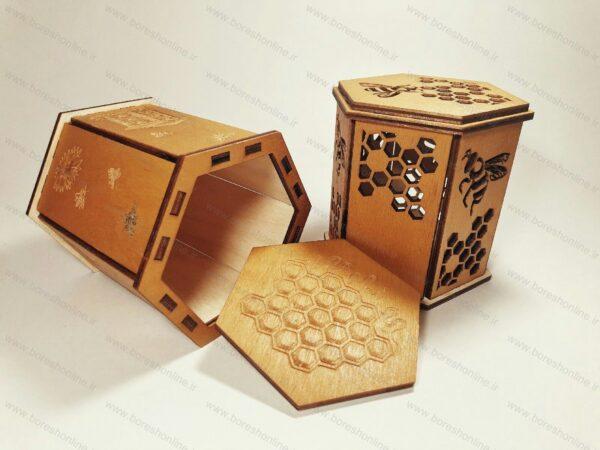 فایل لیزری ظرف چوبی عسل